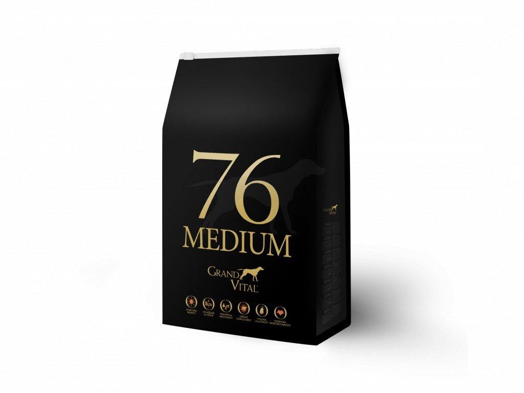 Grand Vital Medium 76 Kuře 8 kg (pack 4 x 2 kg)