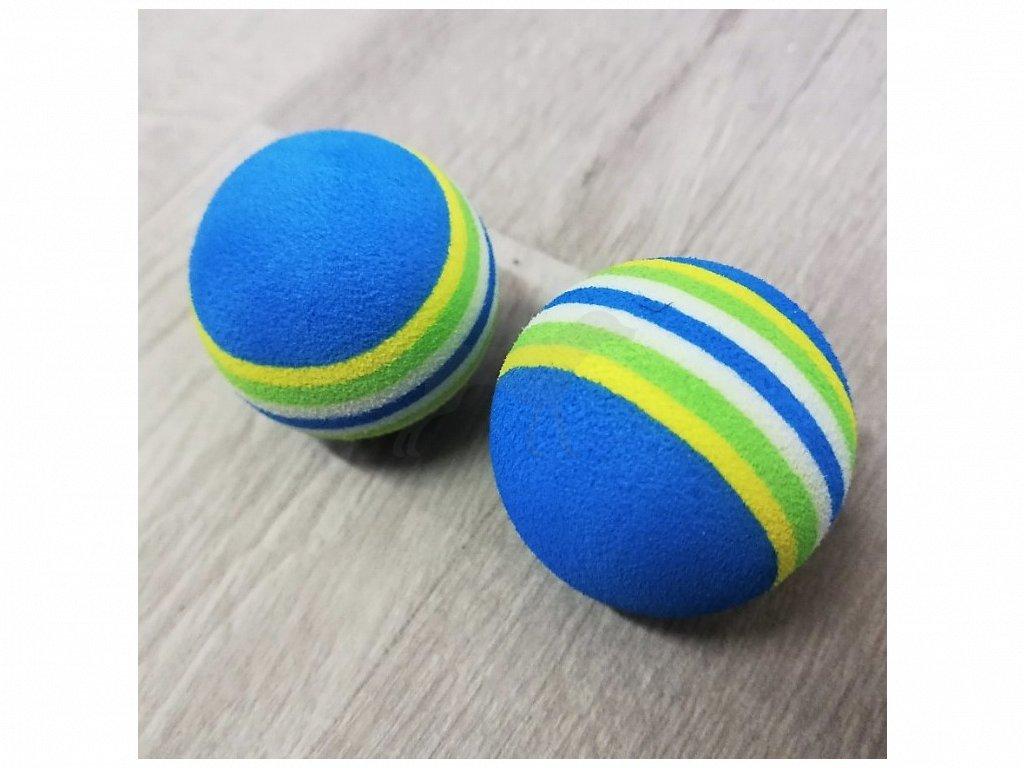 Hračka míček pěna modrý 3,5 cm