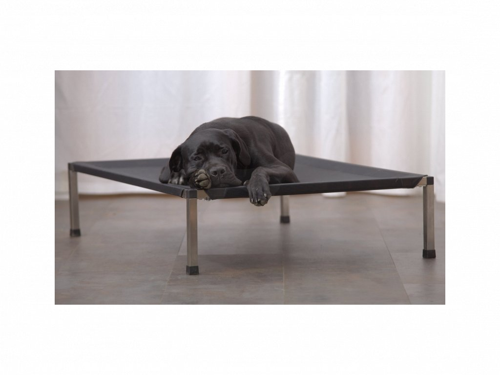 Lehátko ANADI pro psy 140 x 100 x 24,5 cm XXL potah černý
