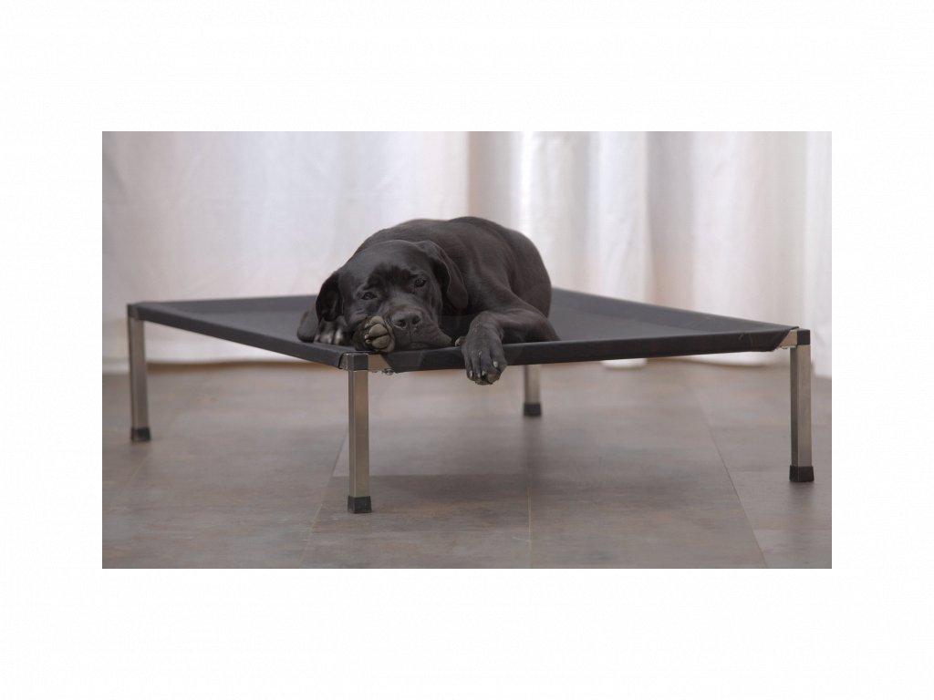 Lehátko ANADI pro psy 95 x 67,5 x 19 cm L potah hnědý