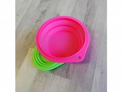 Cestovní miska 14,5 cm/500 ml, silikonová mix barev