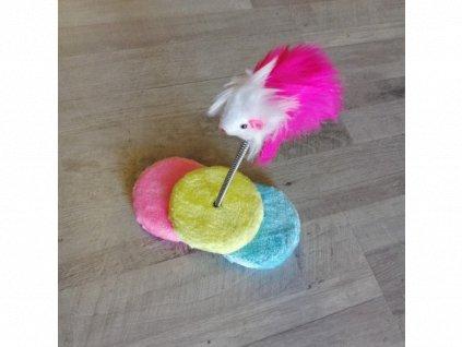 Hračka Myška na pérku 25 cm