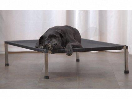 Lehátko ANADI pro psy 77,5 x 52,5 x 15 cm M potah šedý